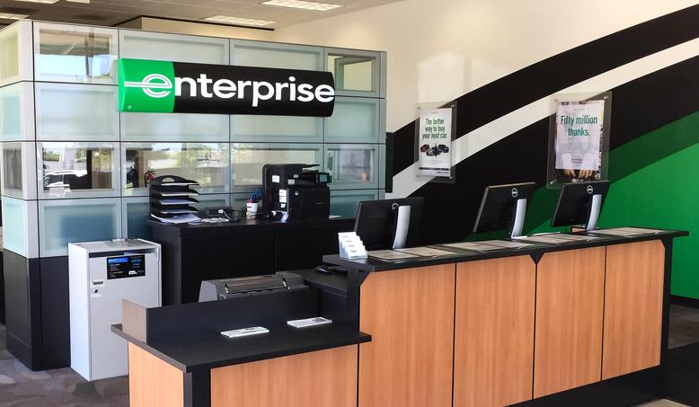 Enterprise Rent-A-Car branch office in US